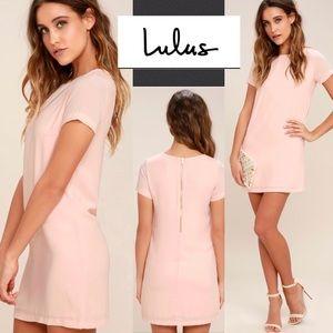 Lulu's Shift and Shout Blush Pink Shift Dress XL